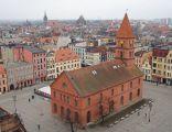 Rynek Nowomiejski w Toruniu, widok z wieży kościoła św. Jakuba