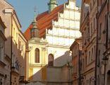 Kościół dominikanów w Lublinie widziany z Rynku Starego Miasta
