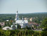 """Chełm Śląski, Kościół pw. Trójcy Przenajświętszej, widok ze """"Smutnej Góry"""""""